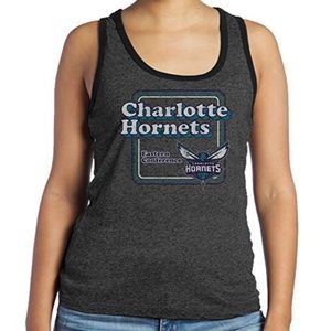 Charlotte Hornets Triblend Contrast Tank NWT 2X